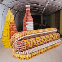 Art with canned food