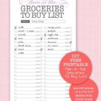 For the list makers: free printable lists