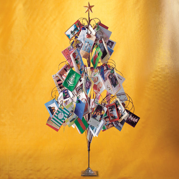 i found this gorgeous christmas card tree from wisteria last year you place all the christmas cards you receive on it isnt it a cool and gorgeous idea - Christmas Card Tree Holder