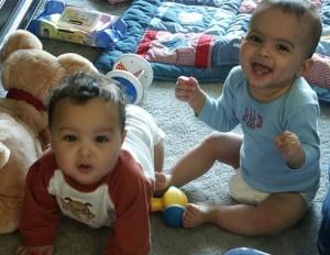 Babies in diapers