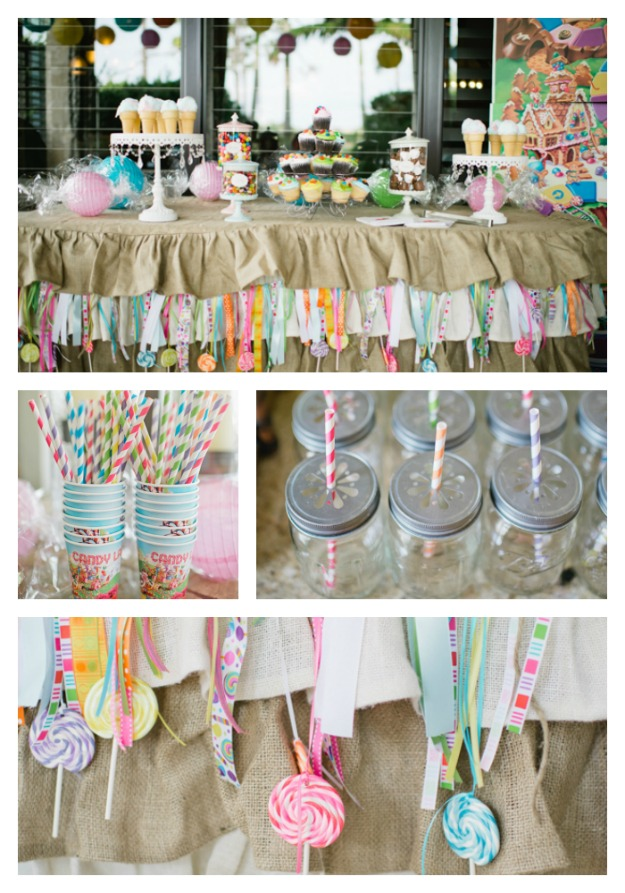 candyland buffet table