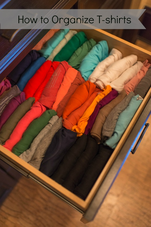 how to organize tshirts