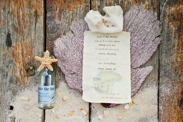 Wedding Invitation in a bottle