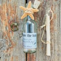 Island Wedding Invitation in a bottle