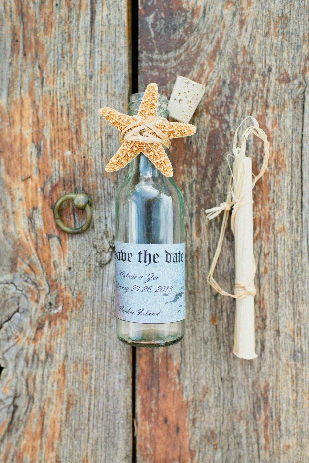 island wedding invitation in a bottle trophy diaries