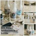 How to make a Pirate Party Invitation in a bottle