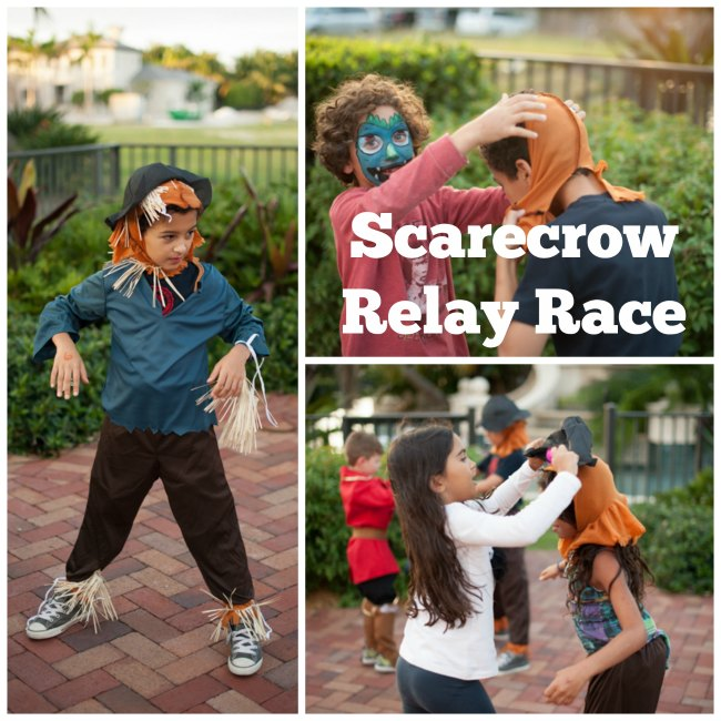 Scarecrow Relay Race