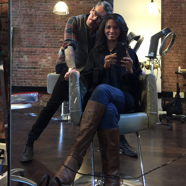 Perfect blowout and style to highlight the perfect cut and color I got last week from @seangcreations ... 20 years of friendship. He must be old! Lol