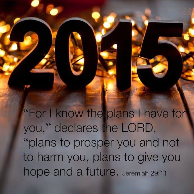 My plan for NOT having a plan this year, is not at all how I planned for it to be. I feel lost. But God promises He has a plan for my life. One that won't harm me and will give me HOPE for the future.
