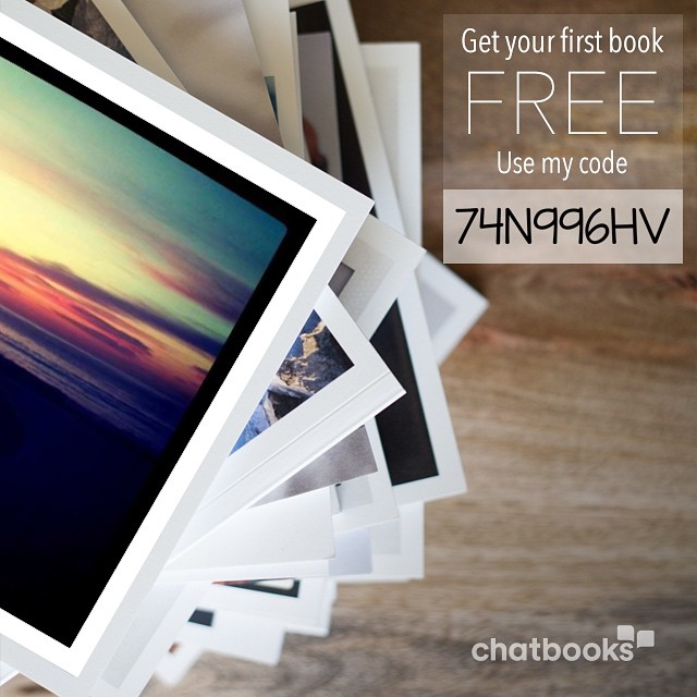 I just ordered my Chatbooks! Use my referral code and get your first book free. Get started at chatbooks.com :)