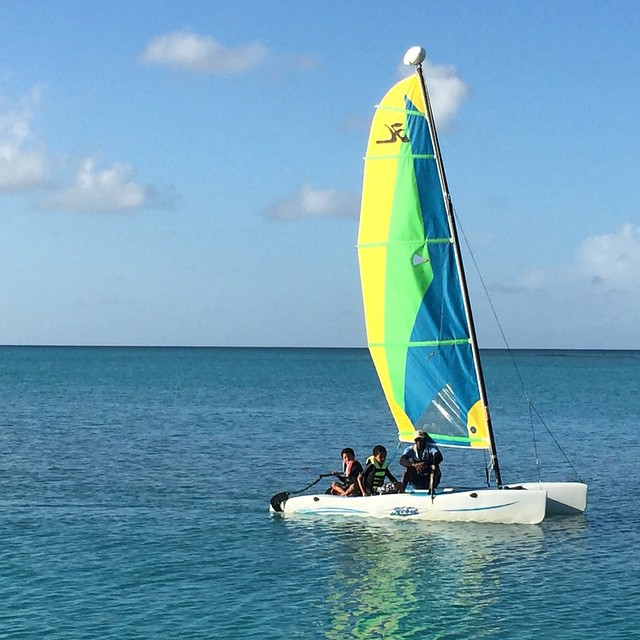Sailing lessons on the Hobie Cat. No one wants to leave.