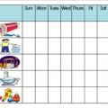 Preschoolers Chore Chart